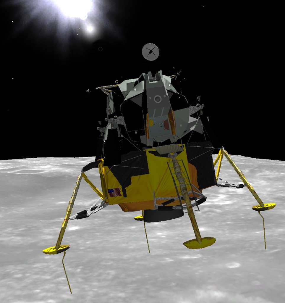 Eagle Lander 3D is a historically accurate lunar landing simulator.